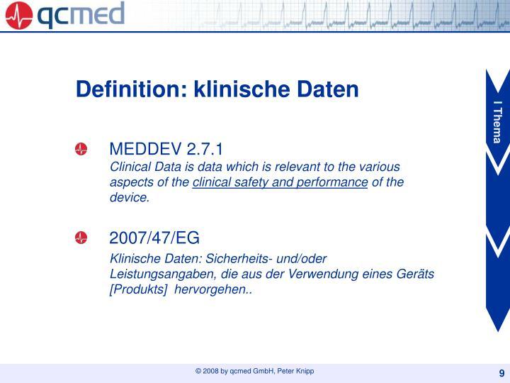 Definition: klinische Daten