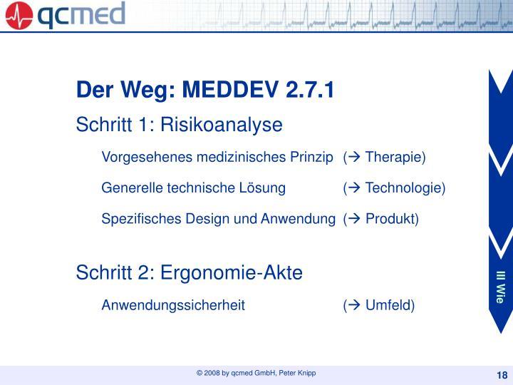 Der Weg: MEDDEV 2.7.1