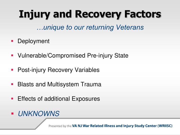 Injury and Recovery Factors
