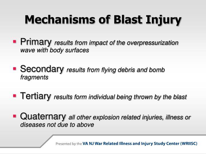 Mechanisms of Blast Injury