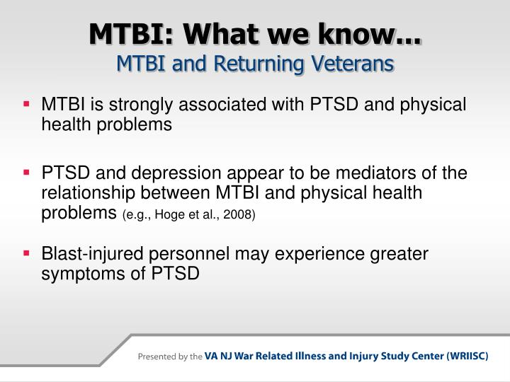 MTBI: What we know...
