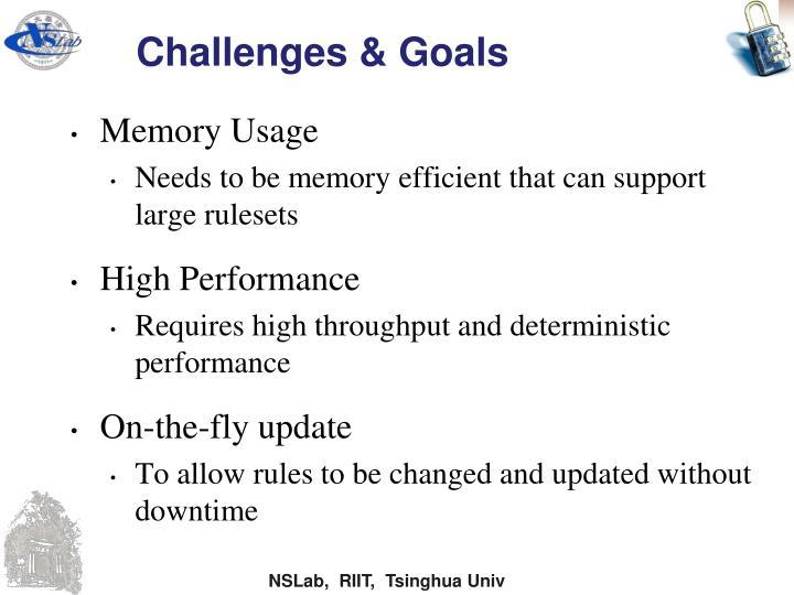 Challenges & Goals