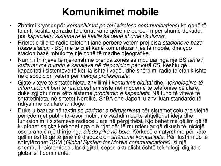 Komunikimet mobile