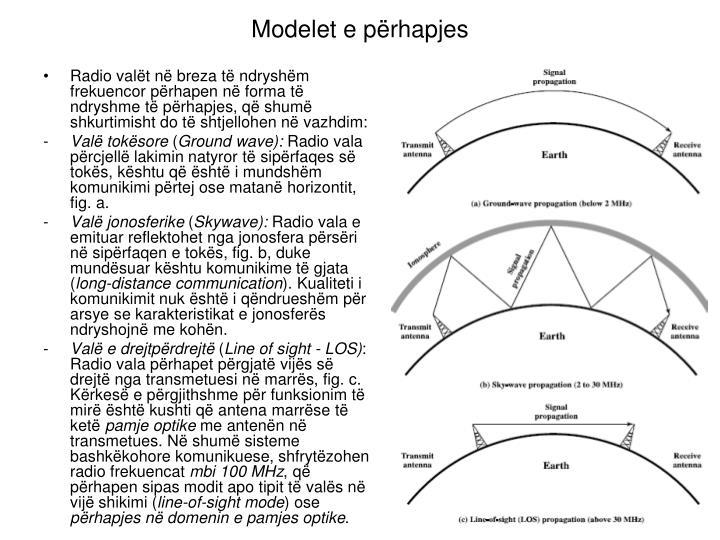 Modelet e përhapjes