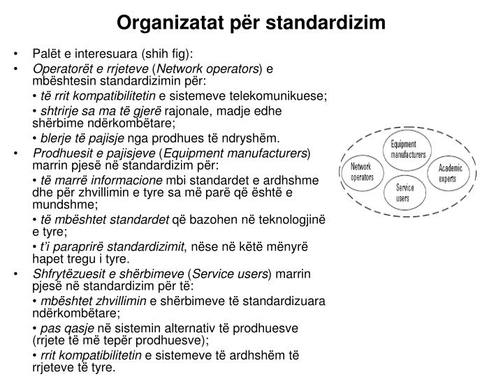 Organizatat për standardizim
