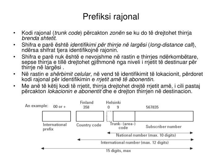 Prefiksi rajonal