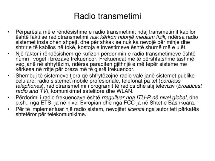 Radio transmetimi