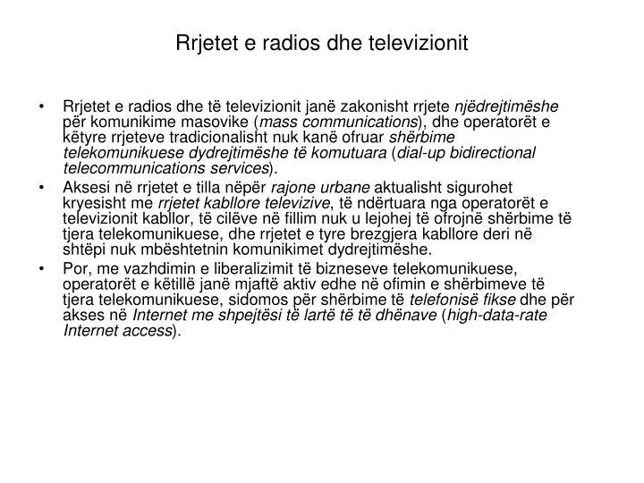 Rrjetet e radios dhe televizionit