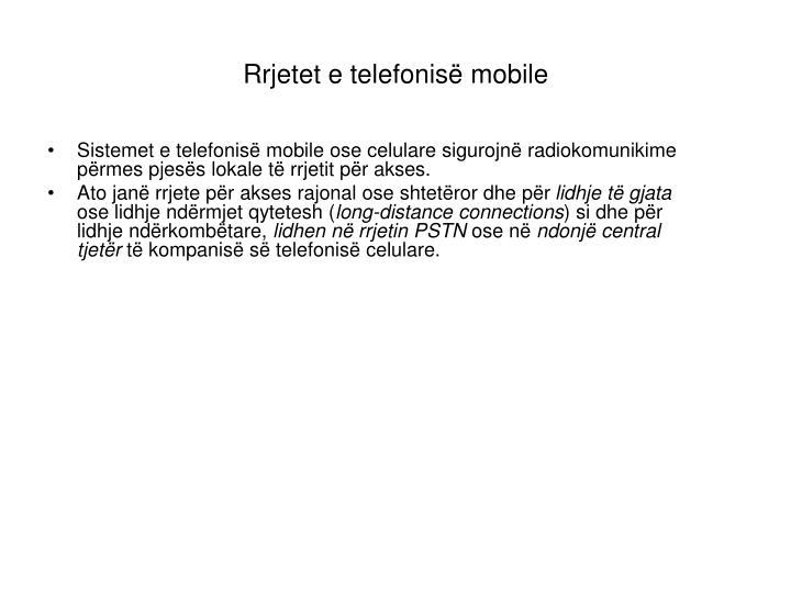 Rrjetet e telefonisë mobile
