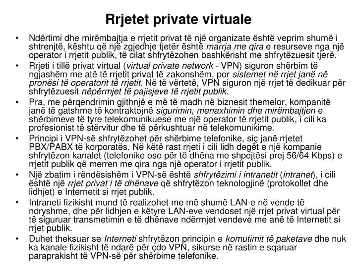 Rrjetet private virtuale
