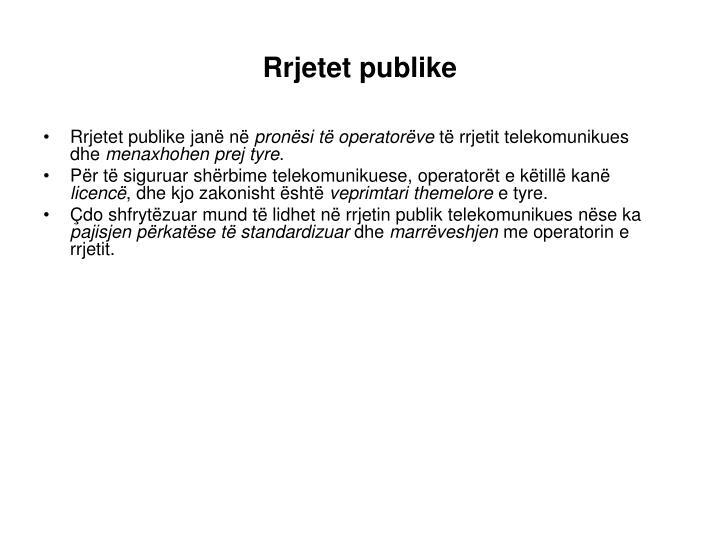 Rrjetet publike