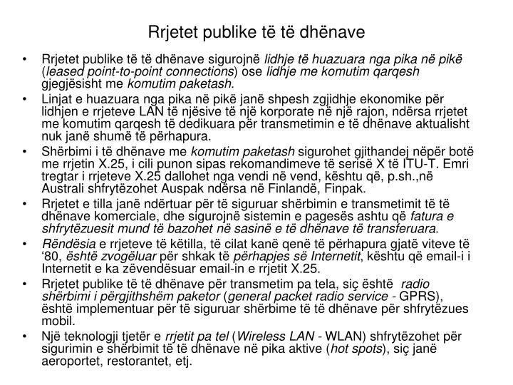 Rrjetet publike të të dhënave