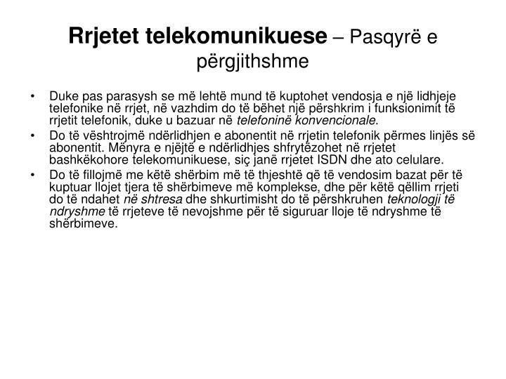 Rrjetet telekomunikuese