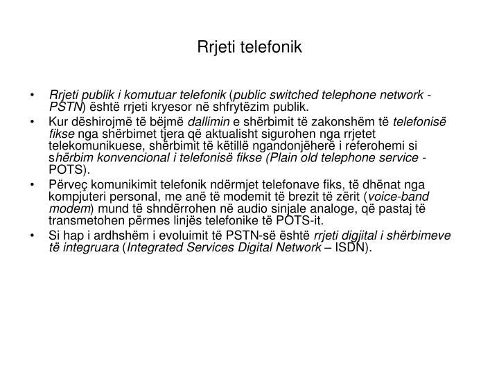 Rrjeti telefonik