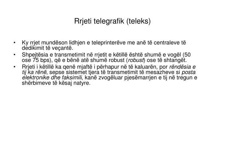 Rrjeti telegrafik