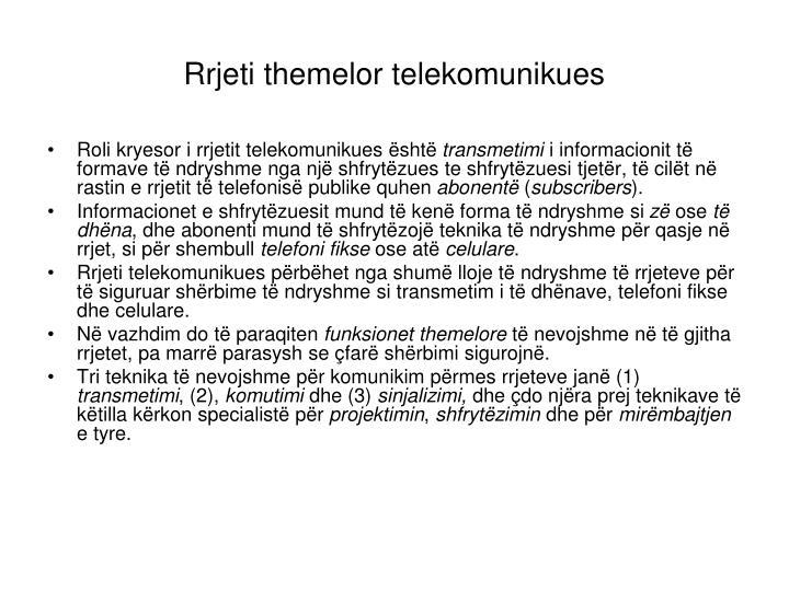 Rrjeti themelor telekomunikues