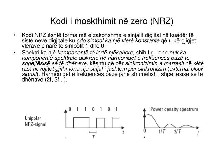 Kodi i moskthimit në zero (NRZ)