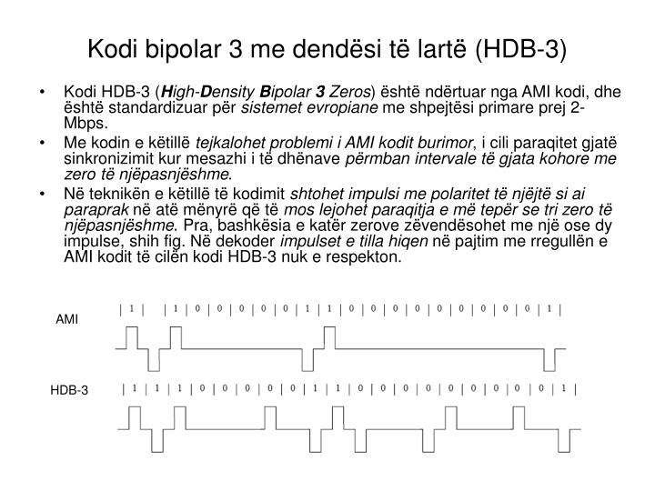 Kodi bipolar 3 me dendësi të lartë