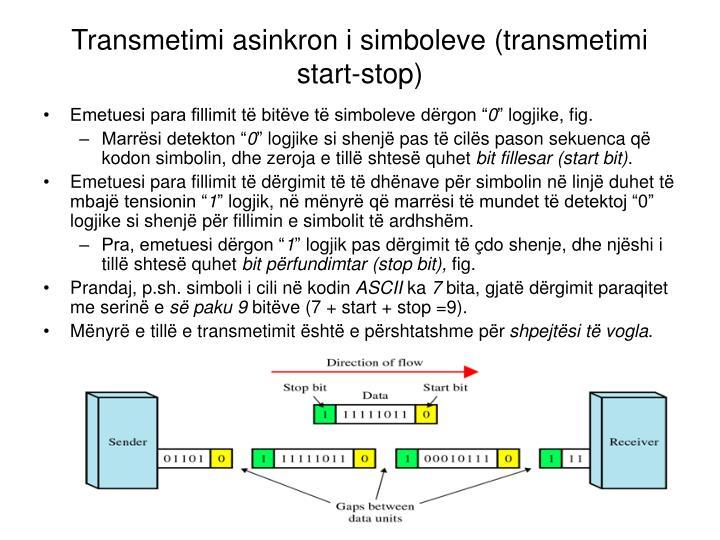 Transmetimi asinkron i simboleve (transmetimi start-stop)