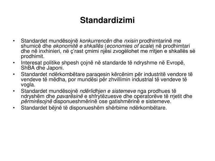 Standardizimi