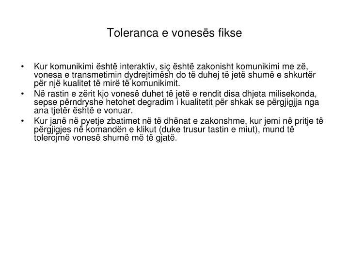Toleranca