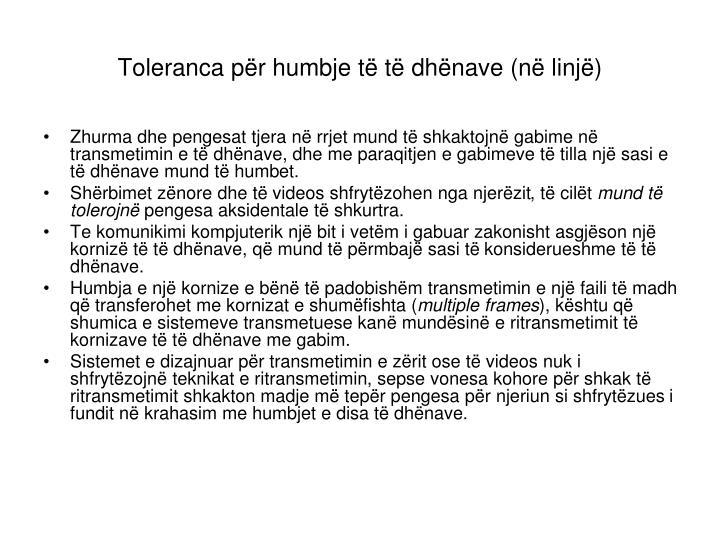 Toleranca për humbje