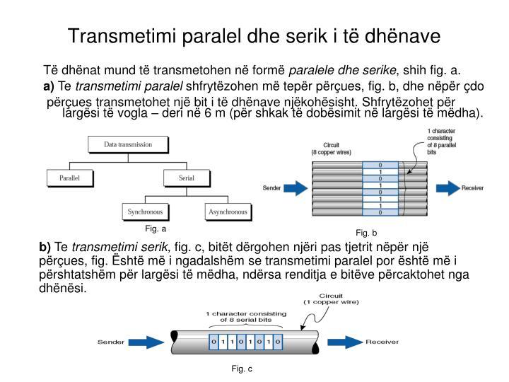 Transmetimi paralel dhe serik i të dhënave