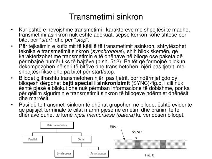 Transmetimi sinkron