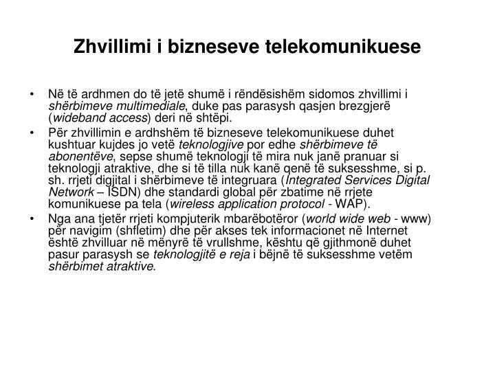 Zhvillimi i bizneseve telekomunikuese