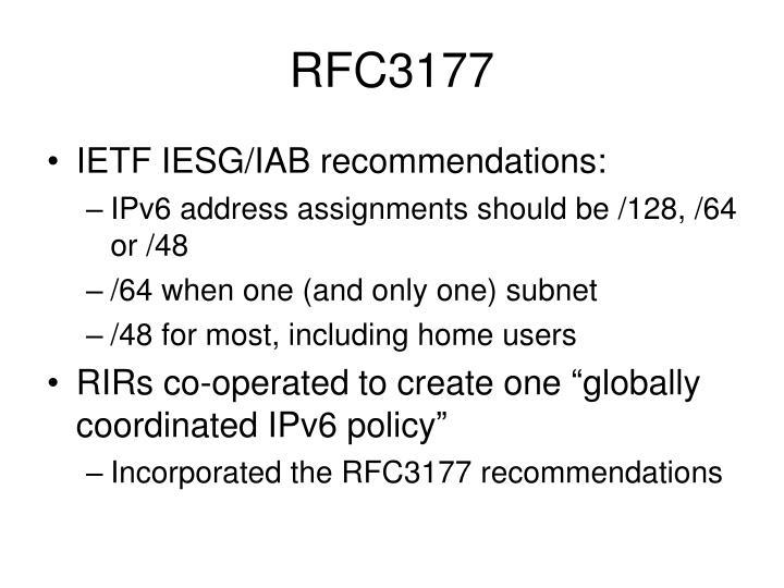 RFC3177