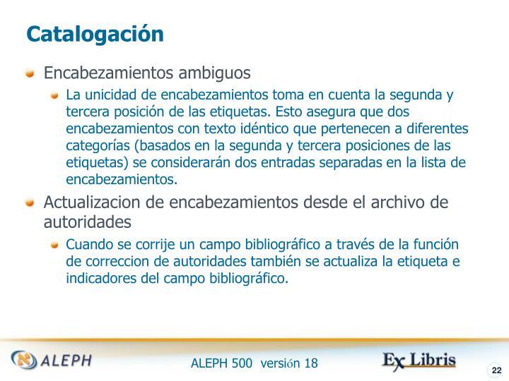 Catalogación