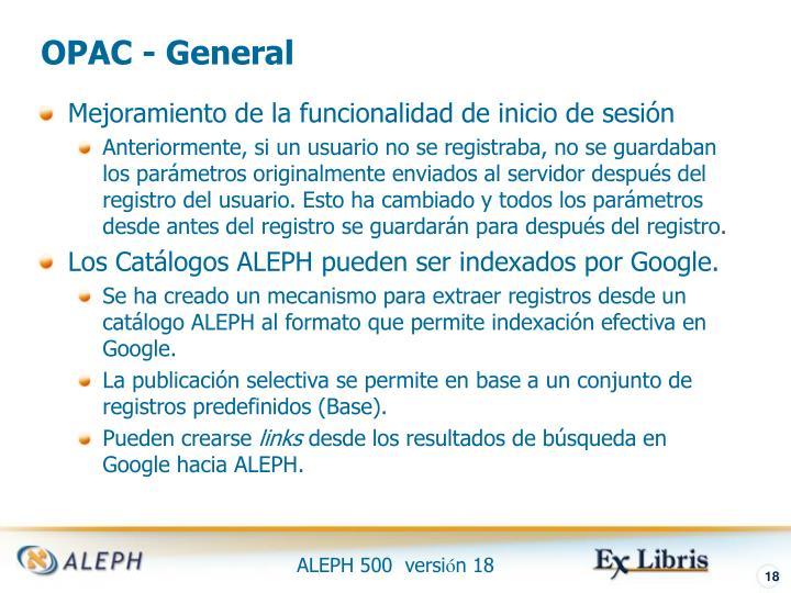 OPAC - General