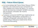 pdq patron direct queue