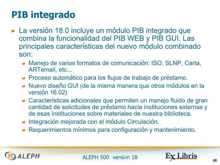 PIB integrado
