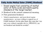 fatty acids methyl ester fame biodiesel
