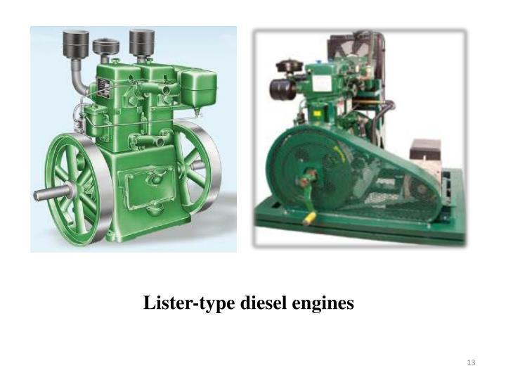 Lister-type diesel engines