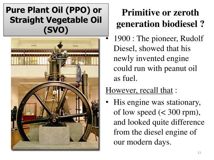 Pure Plant Oil (PPO) or