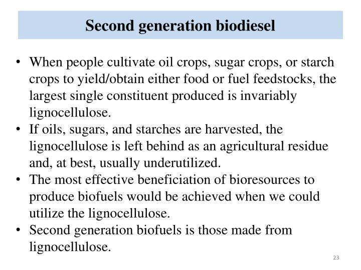 Second generation biodiesel