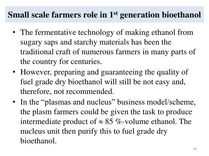 Small scale farmers role in 1