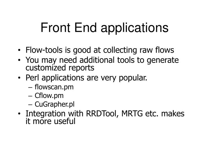 Front End applications