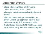 global policy overview