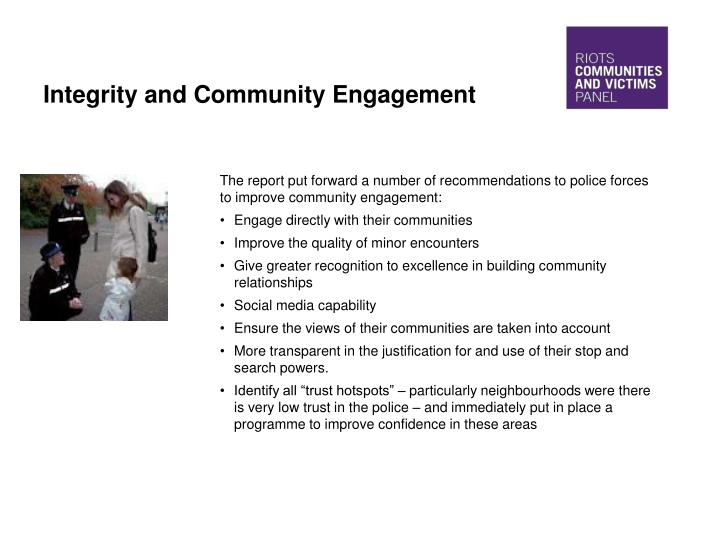 Integrity and Community Engagement