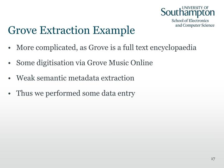 Grove Extraction Example