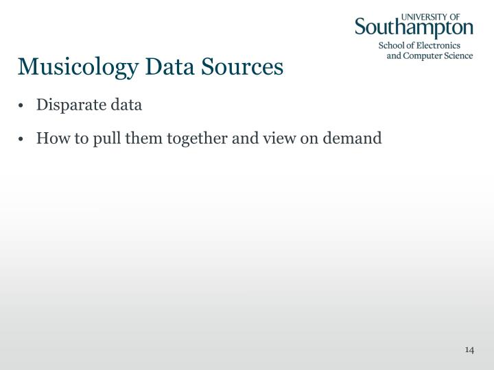 Musicology Data Sources