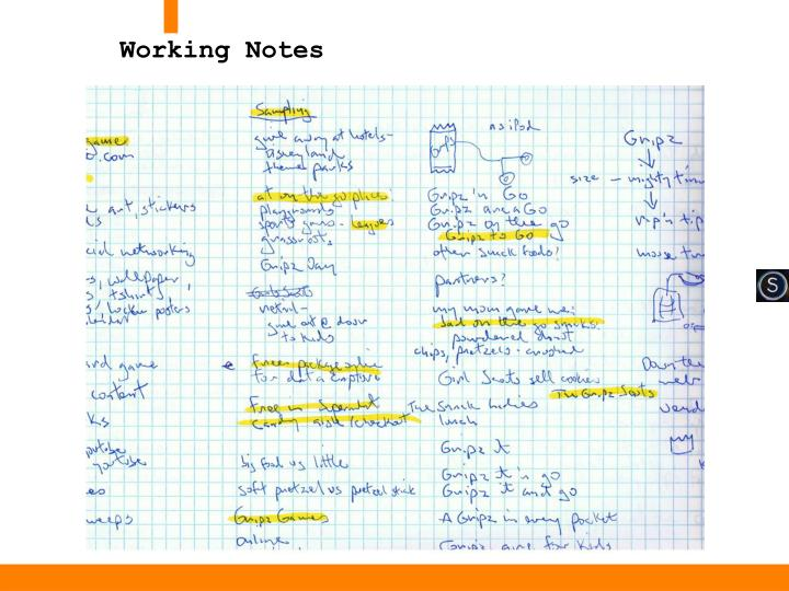 Working Notes