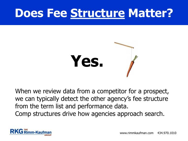 Does fee structure matter