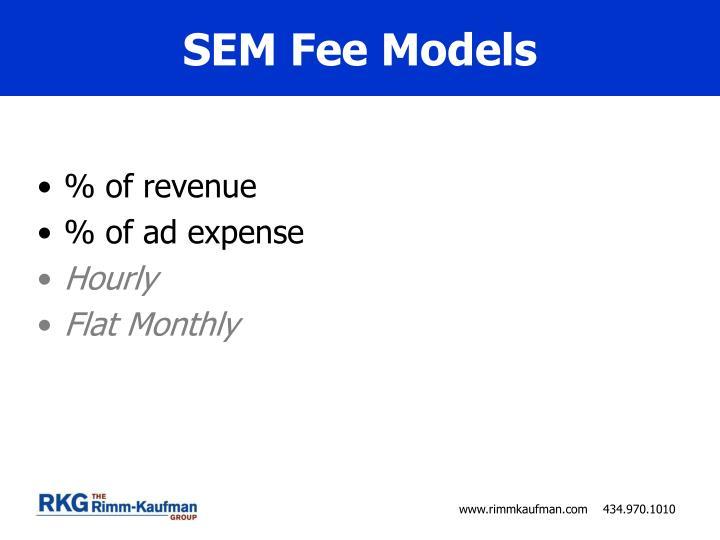 SEM Fee Models