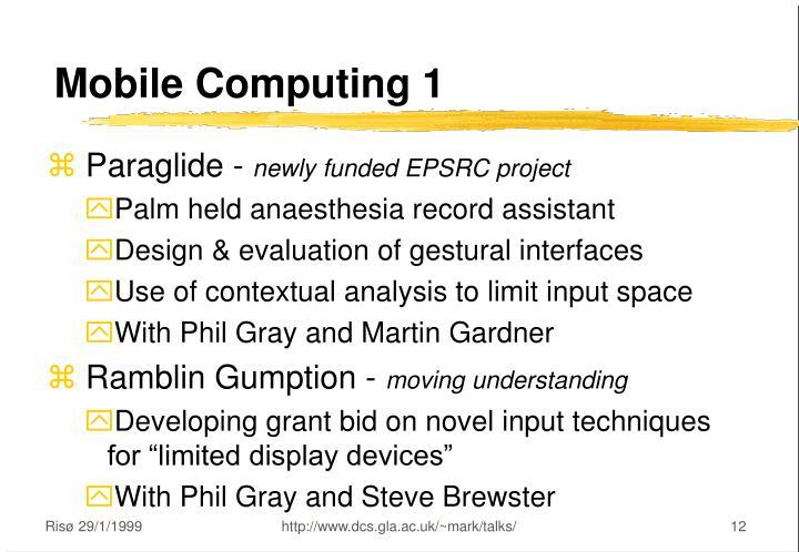Mobile Computing 1