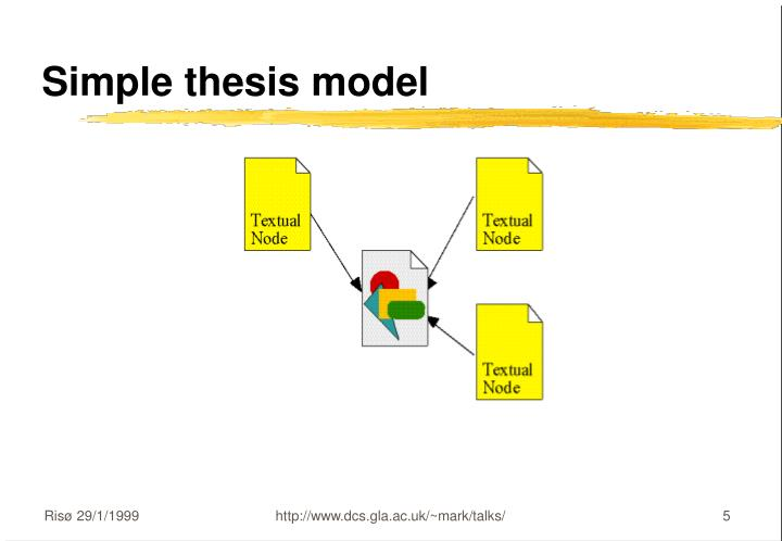 Simple thesis model