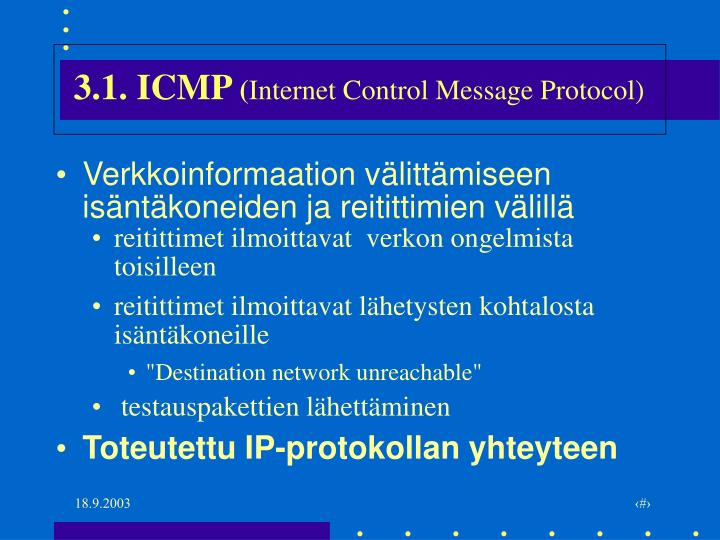 3 1 icmp internet control message protocol